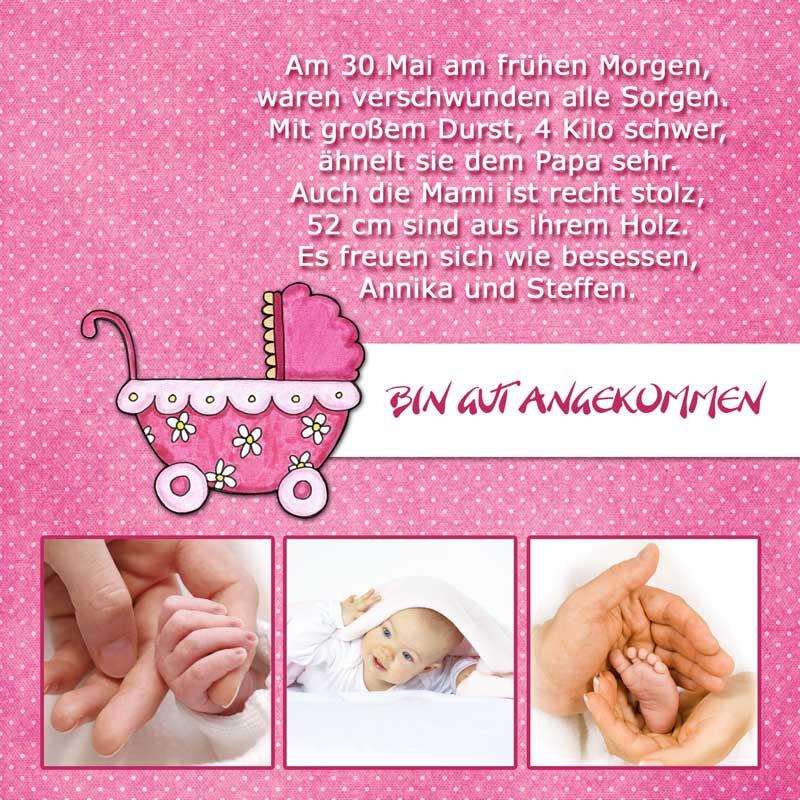 geburtskarten, dankeskarten geburt & babykarten mädchen