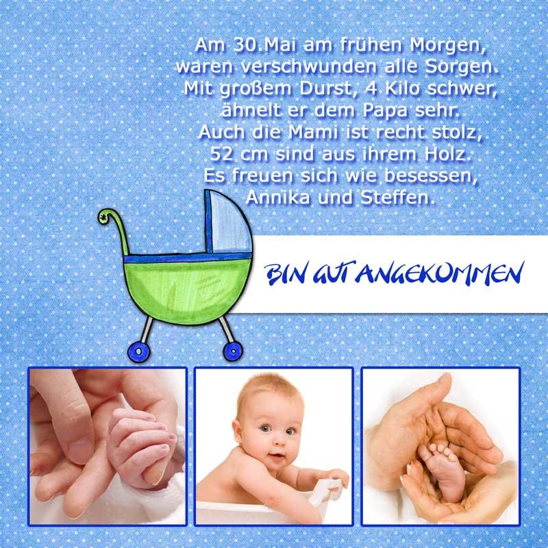Atemberaubend Geburtskarten, Dankeskarten Geburt & Babykarten - Dankeskarten-Shop &EF_33