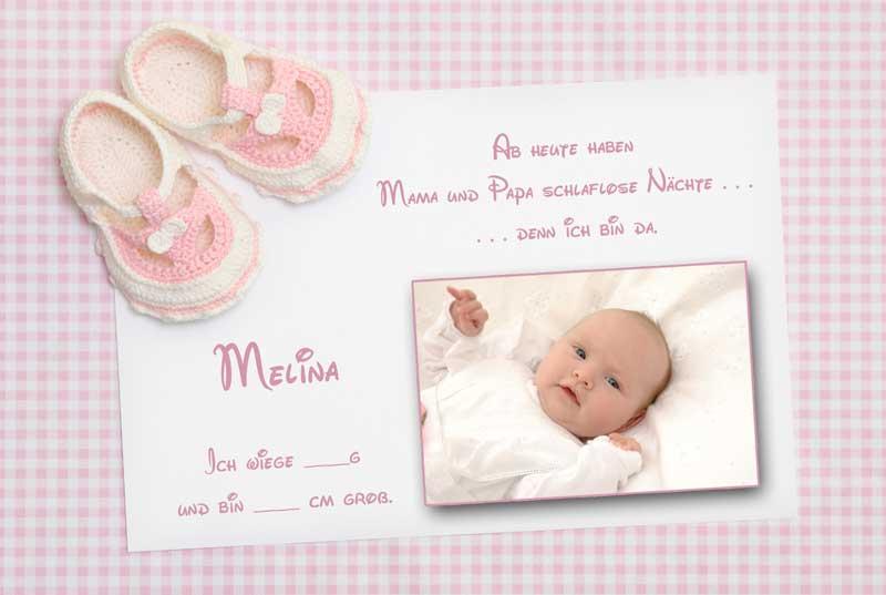 geburtskarten dankeskarten geburt babykarten m dchen. Black Bedroom Furniture Sets. Home Design Ideas