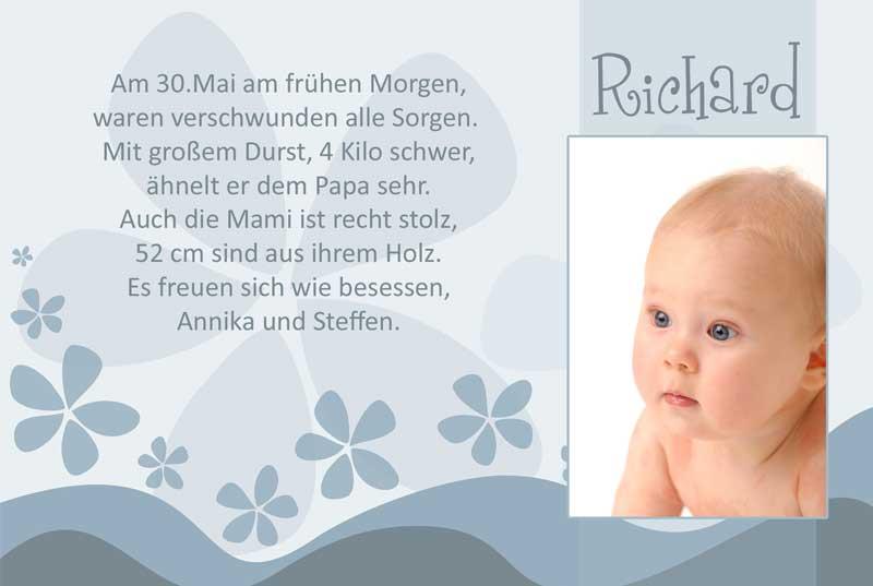 Geburtskarten Dankeskarten Geburt Babykarten Jungen