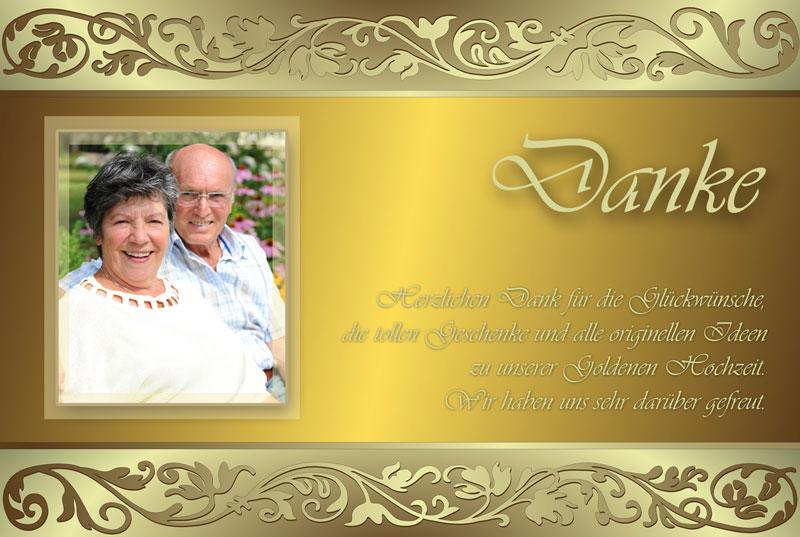 Dankeskarten Danksagungen Zur Goldenen Hochzeit