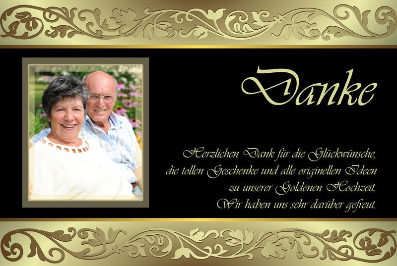 Dankeskarten Danksagungen Zur Goldenen Hochzeit Dankeskarten Shop