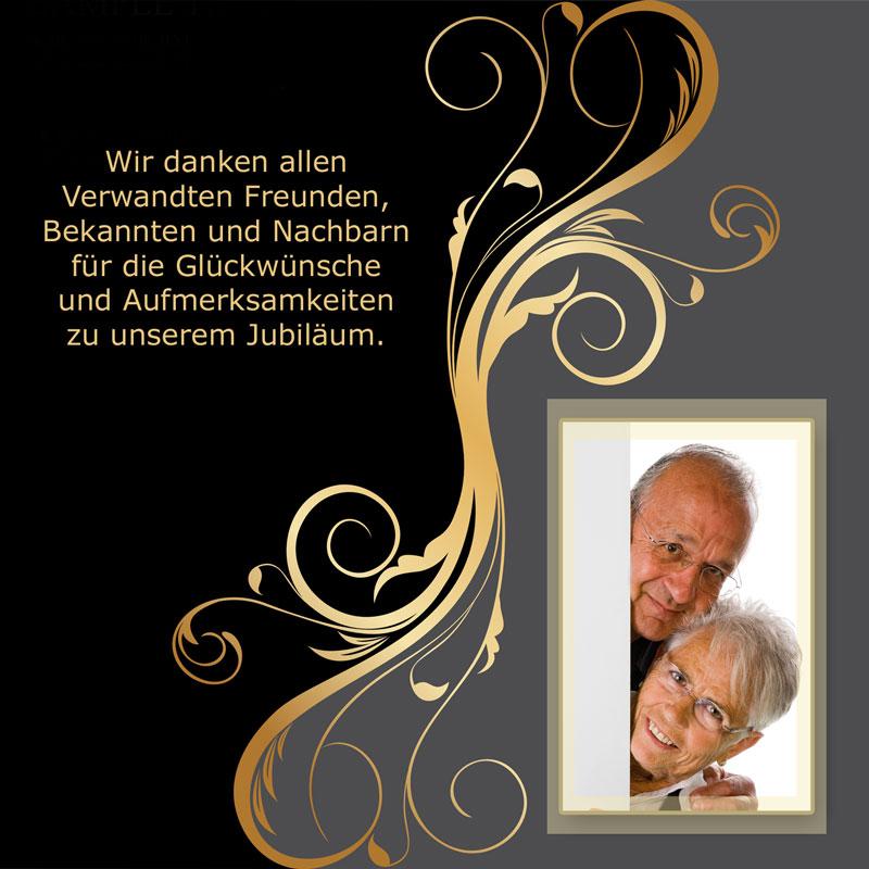 Dankeskarten U0026 Danksagungen Goldene Hochzeit Mit Goldener Verzierung