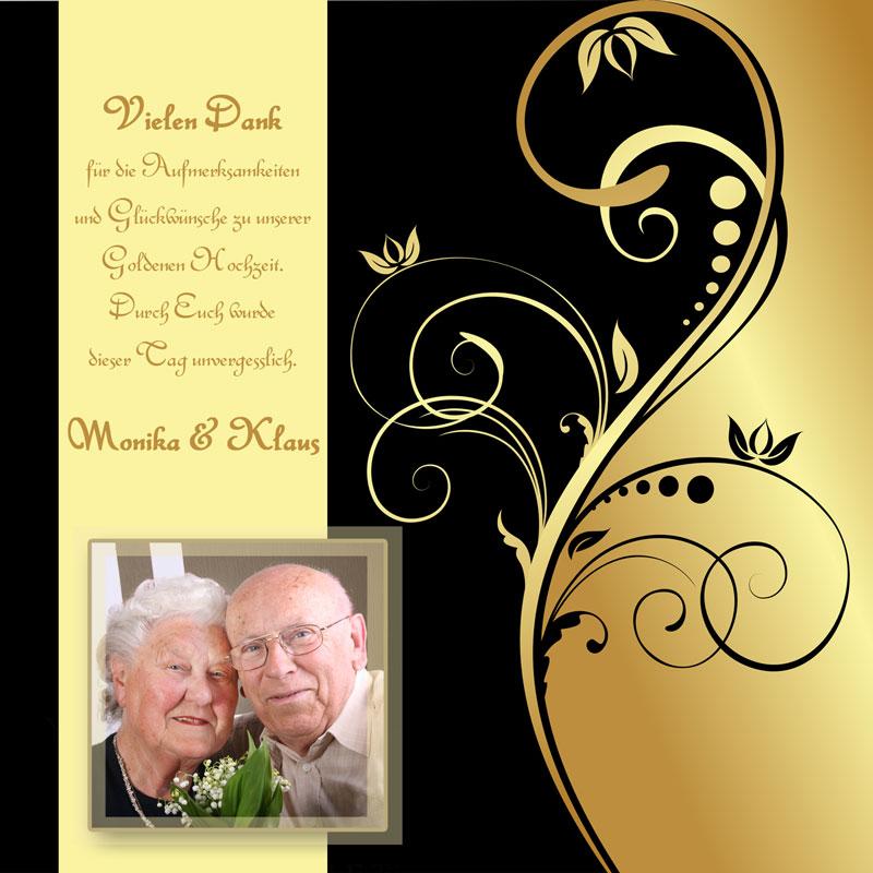 Dankeskarten & Danksagungen zur Goldenen Hochzeit - Dankeskarten-Shop