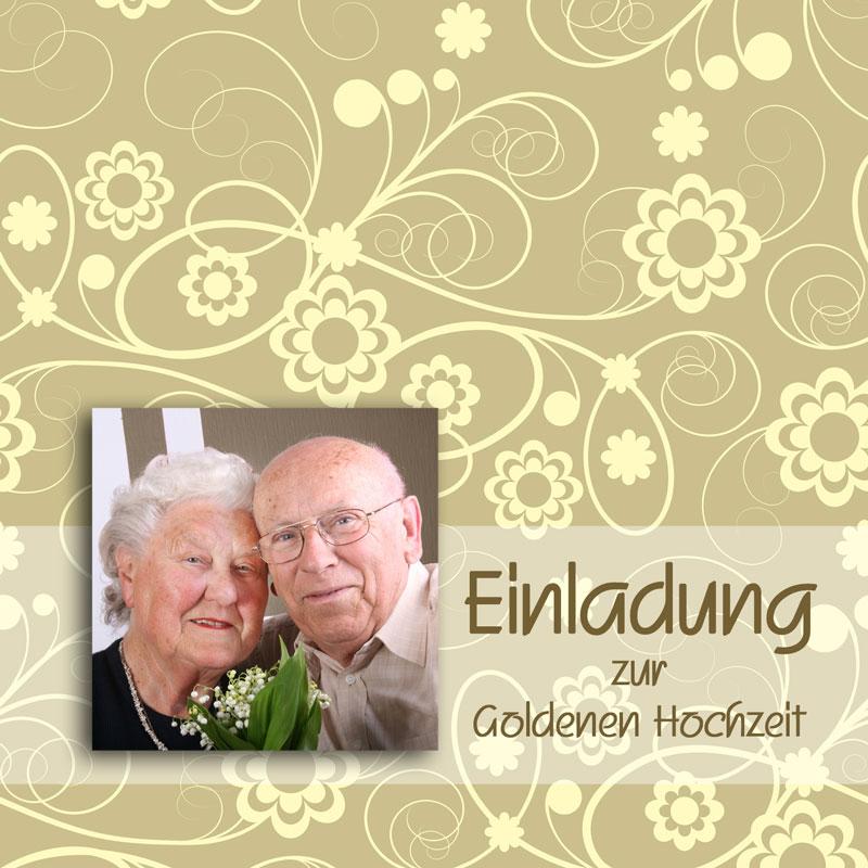 Einladung & Einladungskarten Goldene Hochzeit