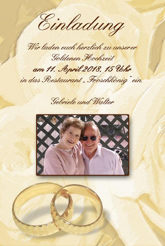 einladung & einladungskarten goldene hochzeit - dankeskarten-shop, Einladung