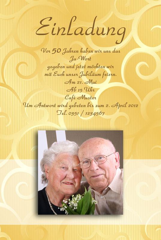 Einladung Amp Einladungskarten Goldene Hochzeit