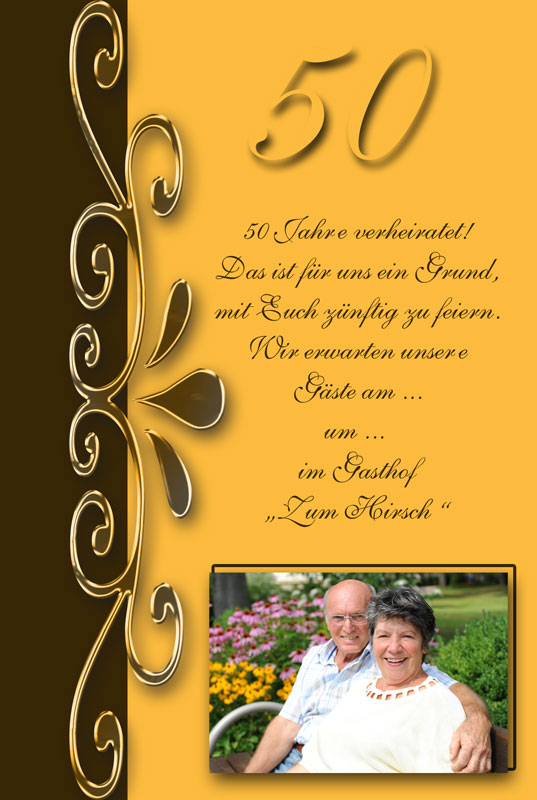 Einladung Zur Goldenen Hochzeit Text Texte Und Gedichte