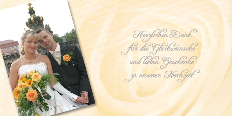 Danksagung Pfarrer Hochzeit