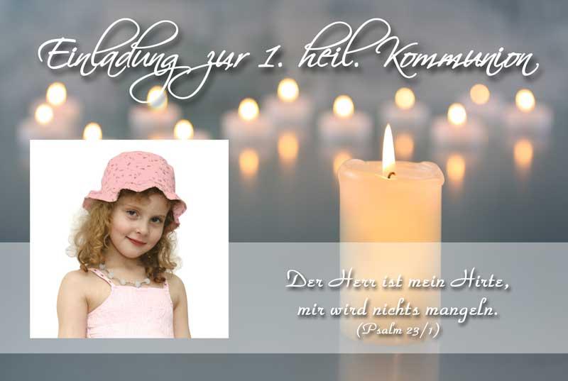 Einladungskarten Kommunion U0026 Einladungen Konfirmation   Kerzen