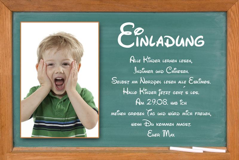 Texte Einladung Schuleinführung - Einladung zum letzten