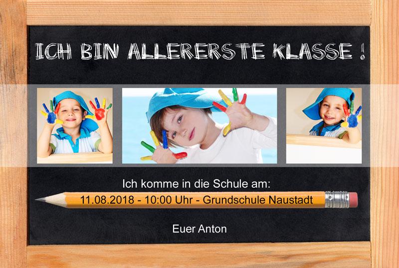 einladungskarten schuleinfuhrung – askceleste, Einladungsentwurf