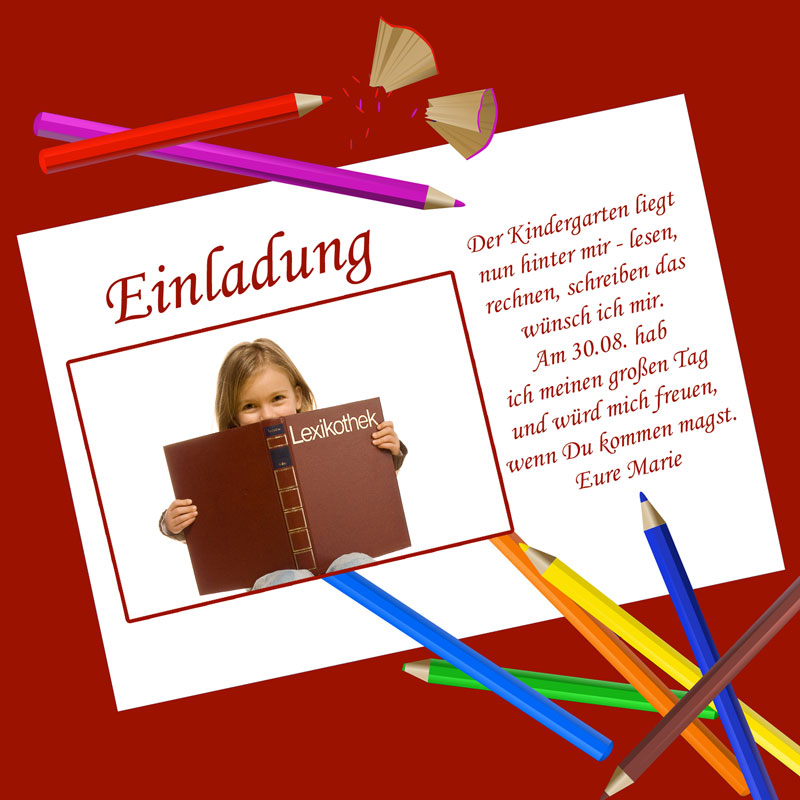 Texte Einladung Schuleinführung - Einladung zum letzten ...