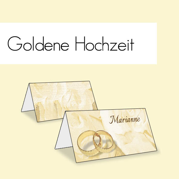tischkarten geburtstag goldene hochzeit kommunion. Black Bedroom Furniture Sets. Home Design Ideas